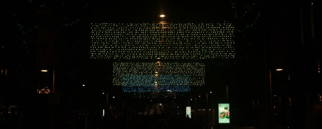 View of Murmuration of Hopes at Wembley Winterfest