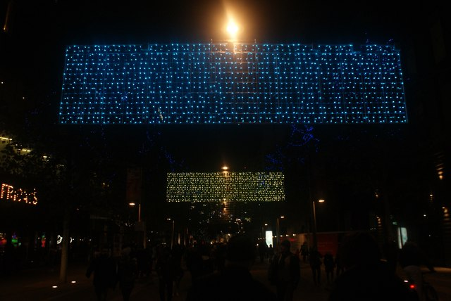 View of Murmuration of Hopes at Wembley Winterfest #2