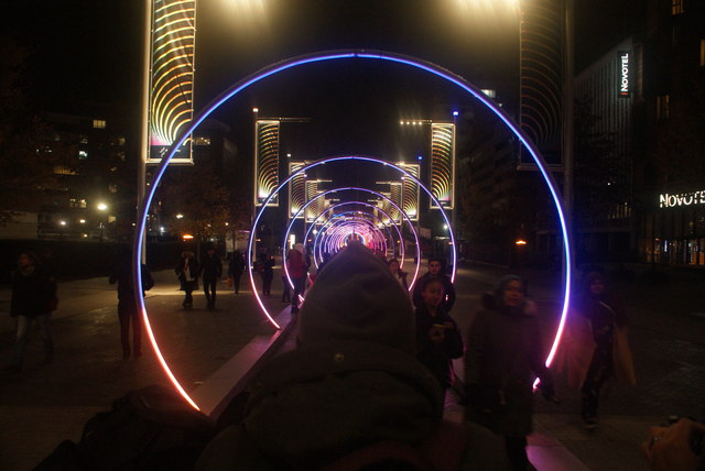 View of Sonic Runway in the Wembley Winterfest
