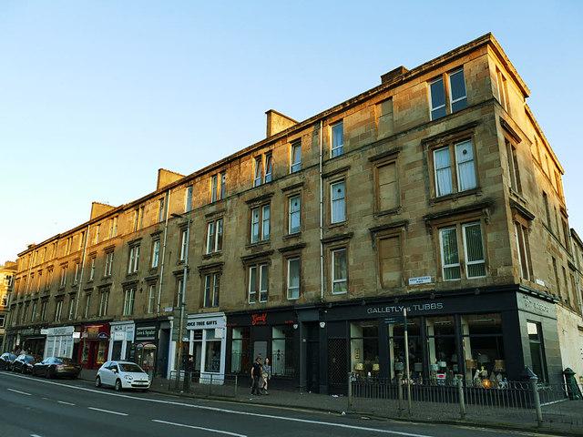 Buildings on Great Western Road, Glasgow