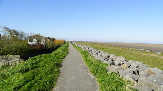 Lancashire Coastal Way at Knott End