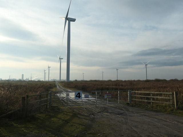 Entrance gate 4, Frodsham wind farm