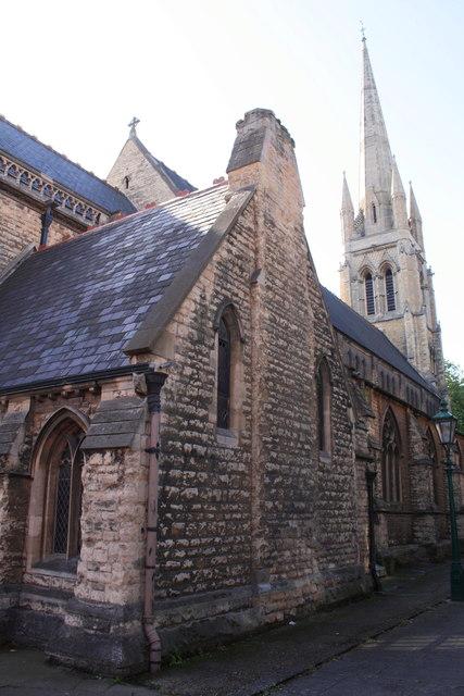 Greyfriar's Pathway beside St Swithin's Church