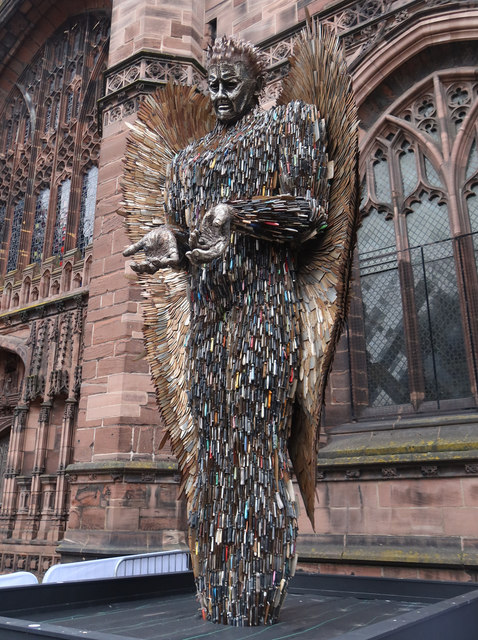 The Knife Angel at Chester Cathedral - 1