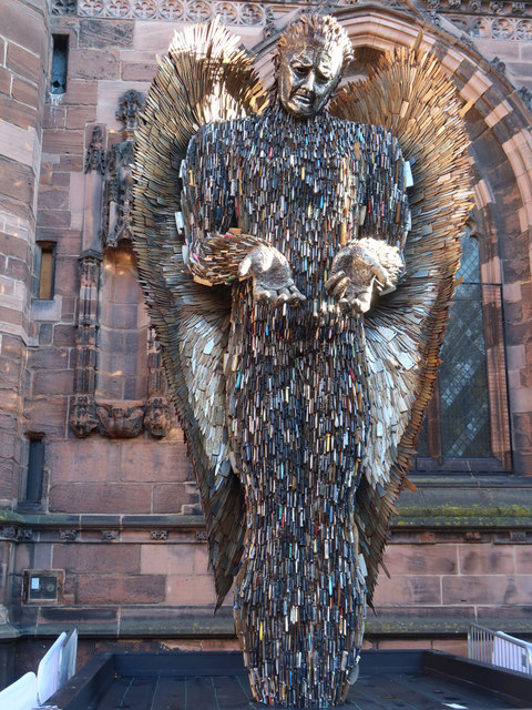 The Knife Angel at Chester Cathedral - 3