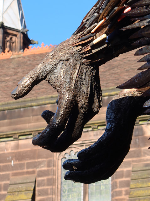 The Knife Angel at Chester Cathedral - 5