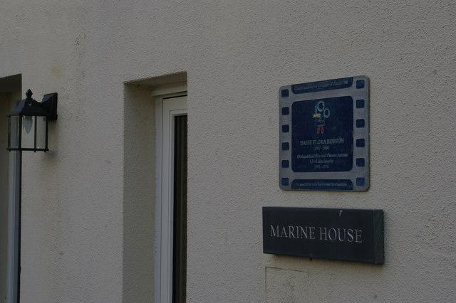 Brighton: Marine House, Marine Gardens, former home of Dame Flora Robson