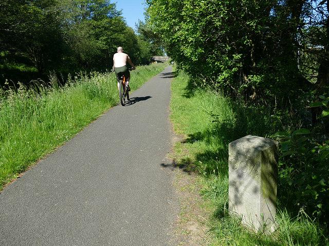 Canal milestone near Falkirk