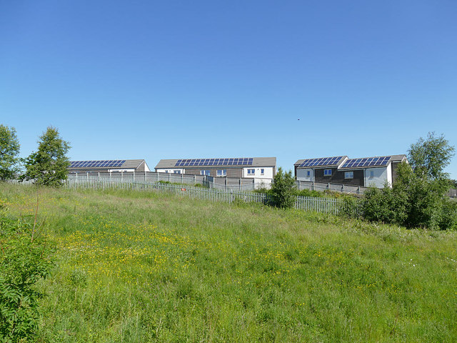 Houses with solar panels on Carrick Place