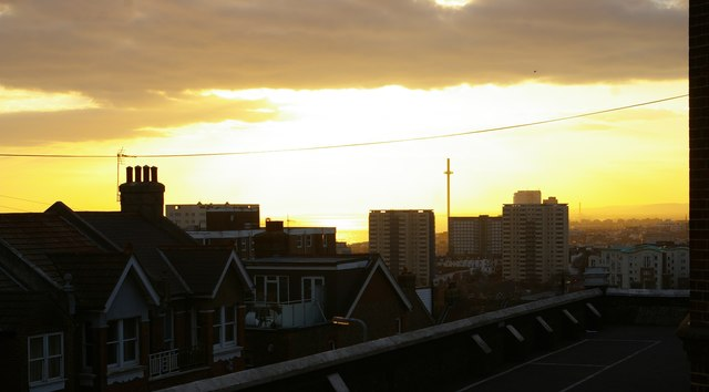 Brighton: sunset from St John's College