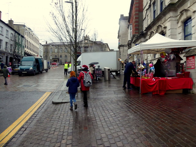 High Street, Omagh prior to the annual lights switch-on