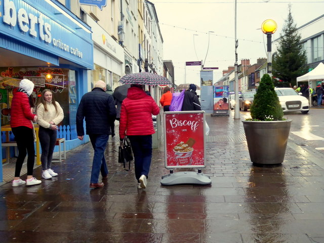 A wet afternoon, High Street, Omagh