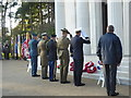SU9456 : Laying of the wreaths at Brookwood American Cemetery by Marathon