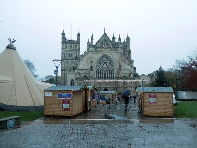 Exeter Cathedral and 2019 Exeter Christmas Market