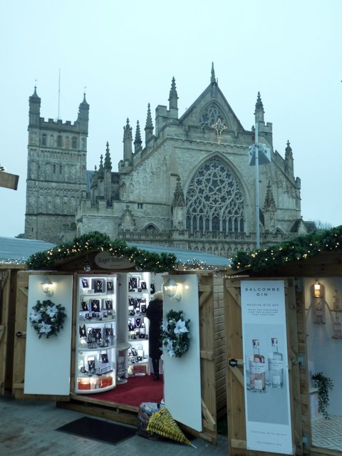 Exeter Christmas Market 2019 and Exeter Cathedral