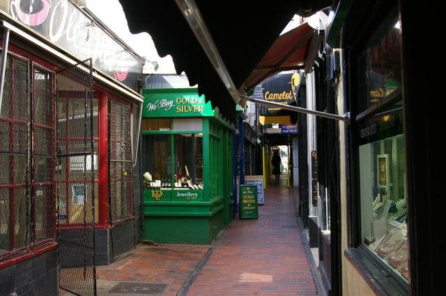 Brighton; Meeting House Lane, in The Lanes