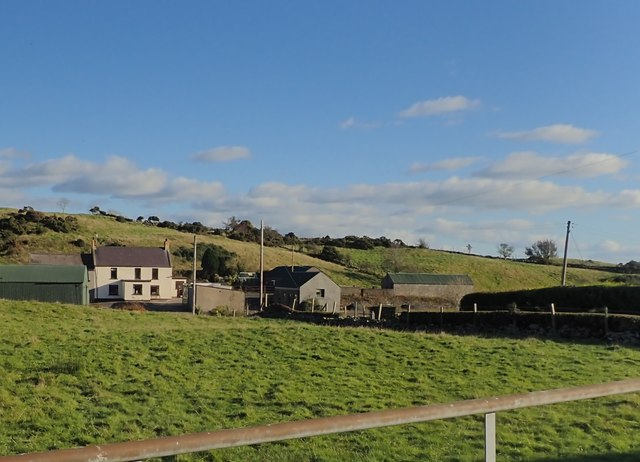 Farmhouse and outbuildings on the East side of Carnreagh Road