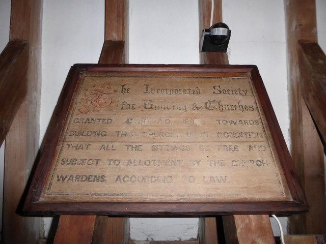 St Mary Magdalene, Sheet: grant commemoration
