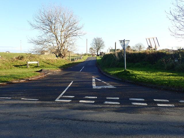 The Drumgavlin Road junction on the Drumkeerah Road