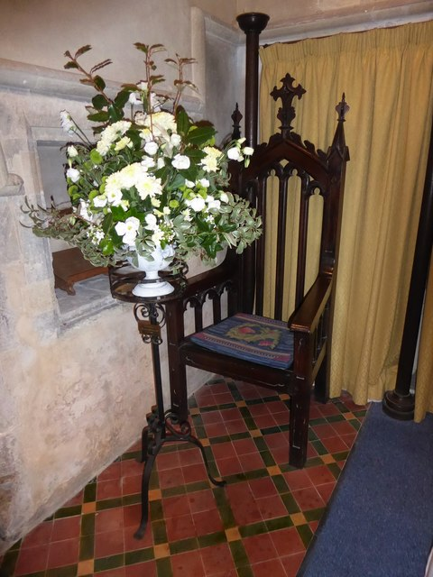 St Mary, Buriton: the Bishop's Chair