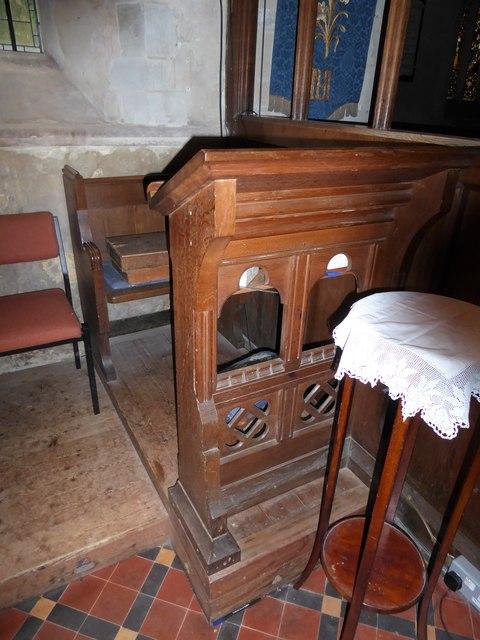 St Mary, Buriton: prayer desk