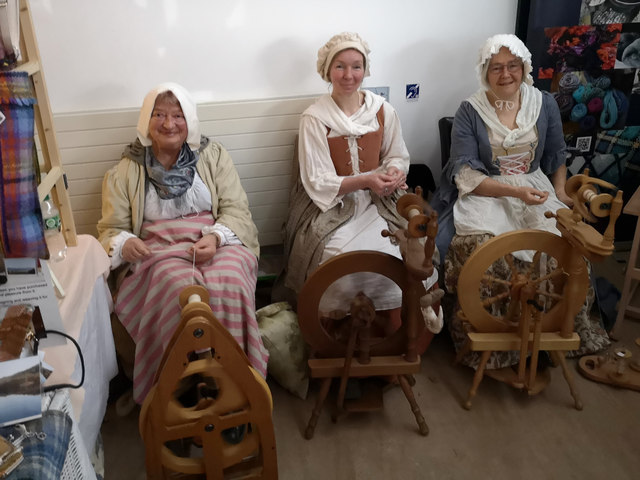 Spinners at the National Trust for Scotland's Culloden Craft Fair and Open Day