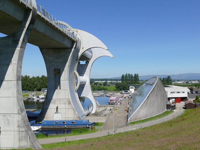 Visitor centre at the Falkirk Wheel
