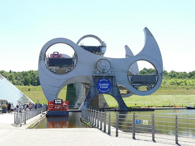 Falkirk Wheel and lower basin