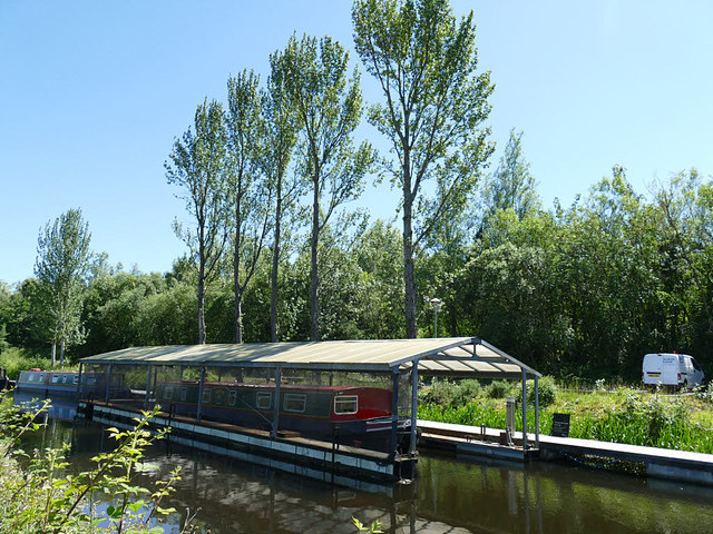 Covered moorings on the Forth and Clyde Canal