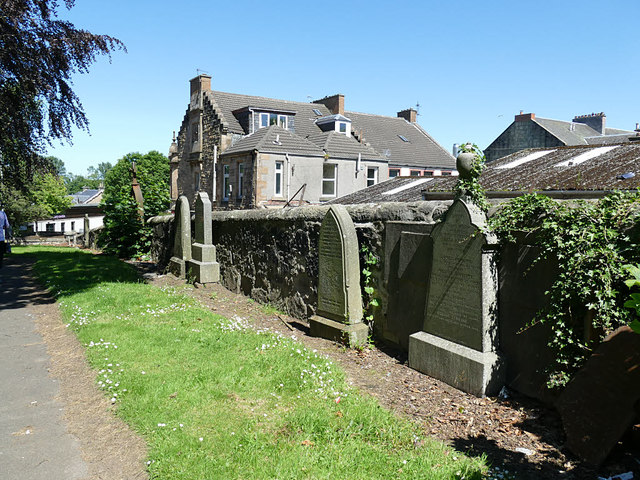 Former St John's parish church, Camelon, gravestones