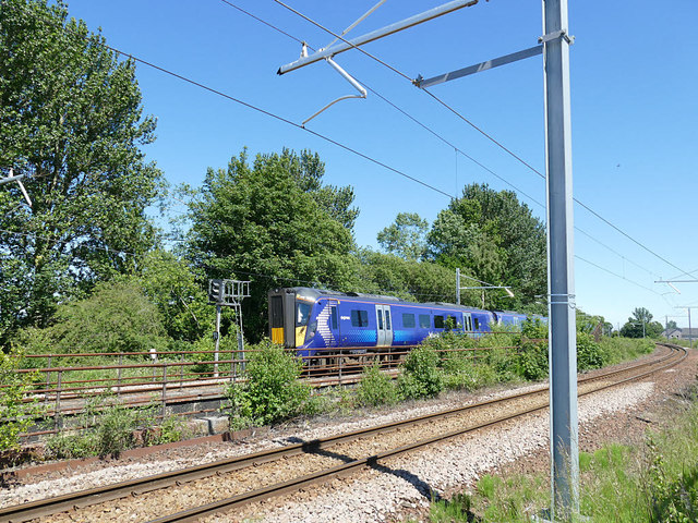Train heading east from Camelon