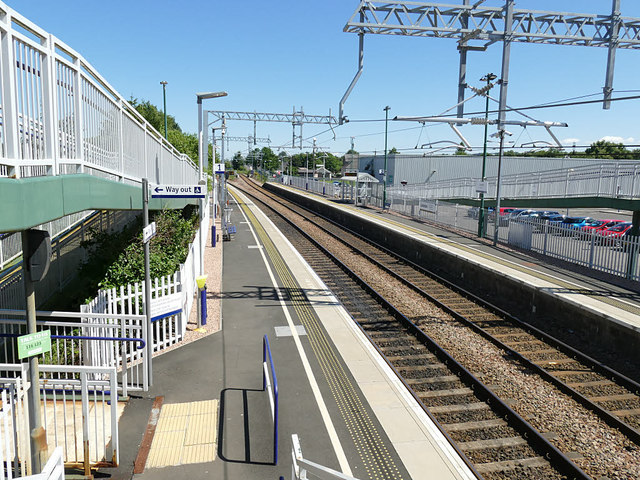 Camelon station, looking east