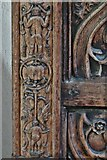 TQ1711 : Steyning, St. Andrew and St. Cuthman Church: Beautifully carved Tudor screen (1522) 5 by Michael Garlick