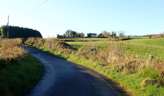 Sharp bends in the ascending Drumgavlin Road