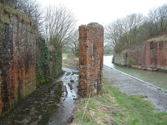 Remains of railway bridge over canal