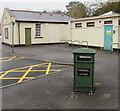 SO3013 : Bilingual litter bin near Abergavenny bus station by Jaggery