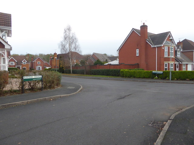 Junction of Burtree Avenue and Gawtree Way - Lyppard, Habington