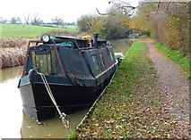 SP7089 : Moored narrowboat along the canal by Mat Fascione