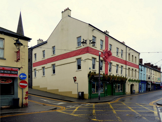 Large red ribbon with bow, Sallys, Omagh