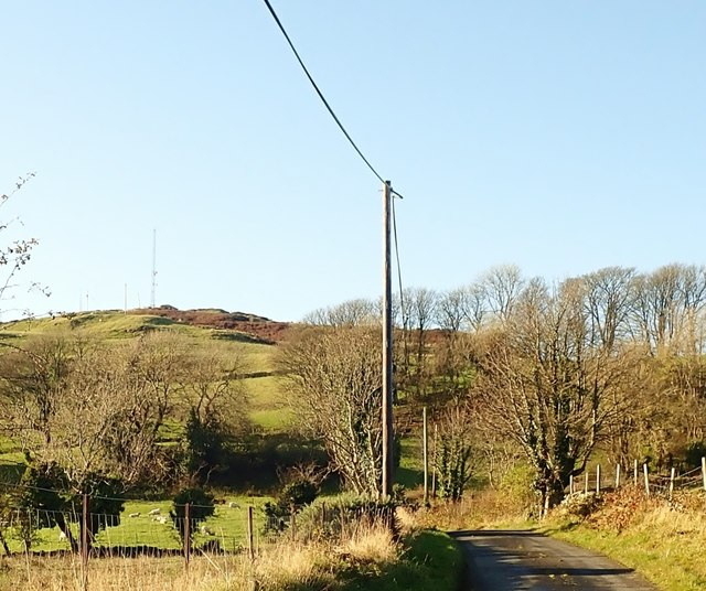 Telecommunications masts on Hamilton's Folly