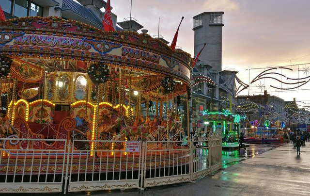 Carousel on Humberstone Gate, Leicester