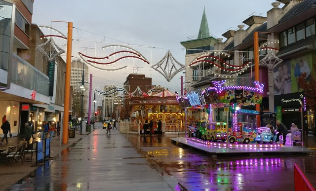 Fairground rides on Humberstone Gate, Leicester