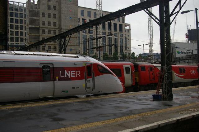 LNER Azuma train, Kings Cross