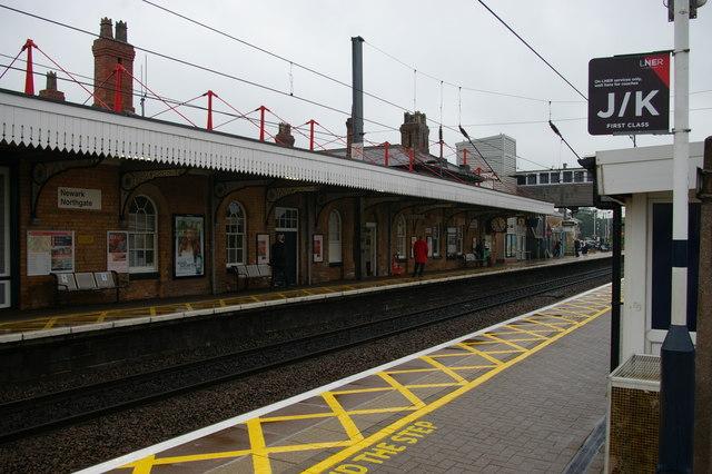 Newark Northgate station, looking north