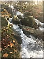 SK2680 : Waterfall on the Longshaw Estate by Graham Hogg