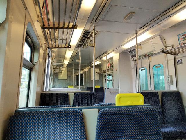 Interior of Iarnród Éireann railcar 2605