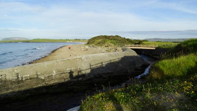 Dunmoran Strand, Co Sligo - mouth of Ardnaglass River
