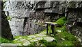H0214 : Mullaghgarve Mass Rock, Slieve Anierin - stone altar by Colin Park