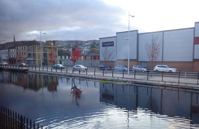 Traffic on Newry's Merchant Quay