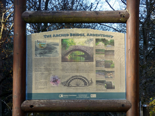 The Arched Bridge information board